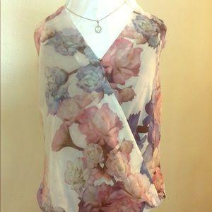 H&M Floral Wrap Top, Size 10